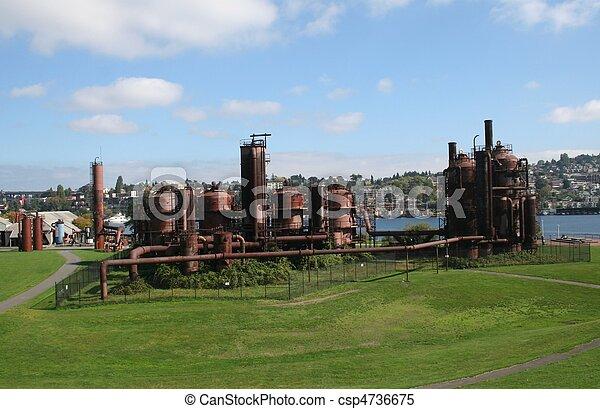 Gasworks Park at Seattle Washington - csp4736675