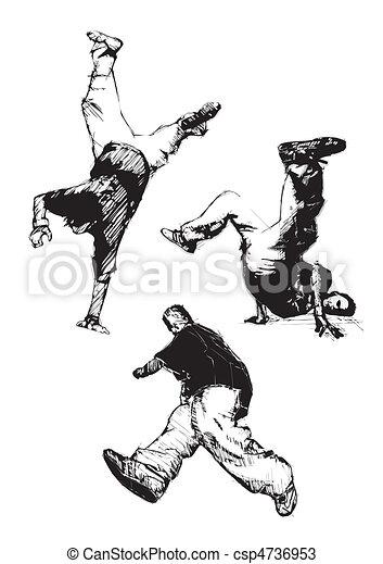 breakdance trio - csp4736953
