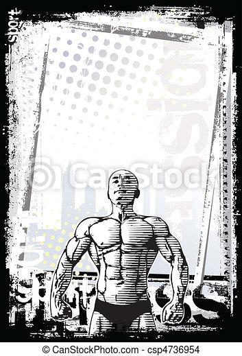 bodybuilder poster 2 - csp4736954