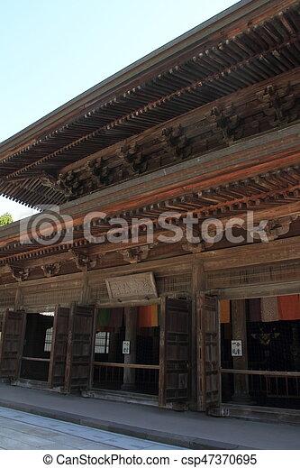 lecture hall of Kencho ji in Kamakura, Kanagawa, Japan