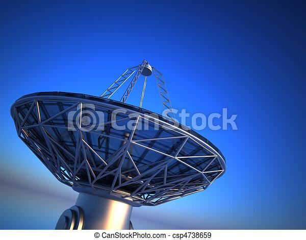 Parabolic antenna( radio telescope) - csp4738659