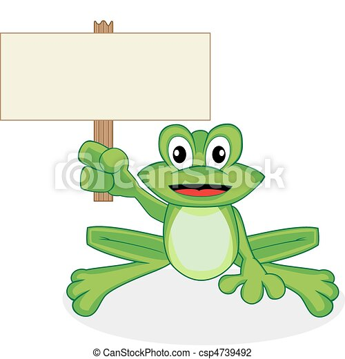 cute happy looking tiny green frog  - csp4739492