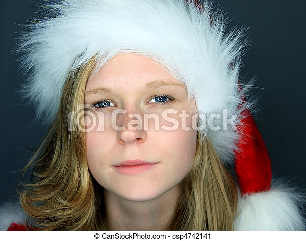 Moody Image of Miss Santa - csp4742141