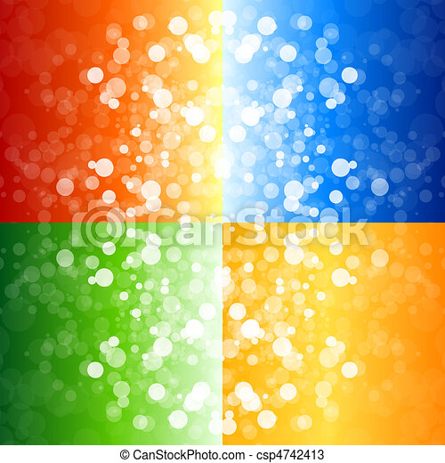 Four blurry lights backgrounds - csp4742413
