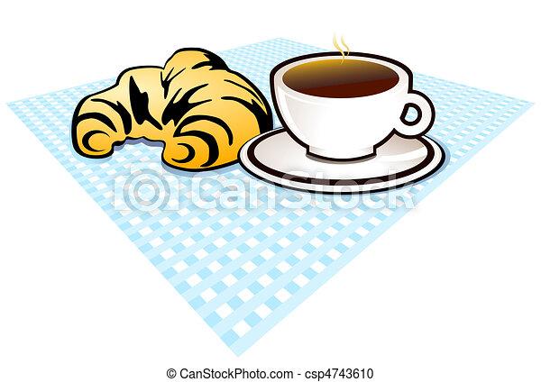 Clipart vettoriali di colazione, croissantcsp4743610 - Cerca clipart ...