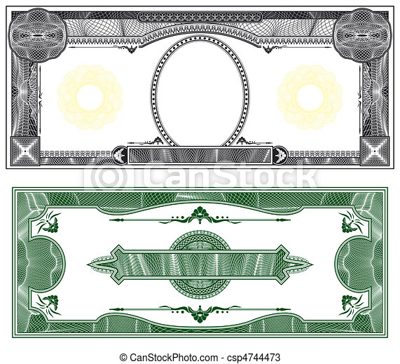 Blank banknote layout - csp4744473