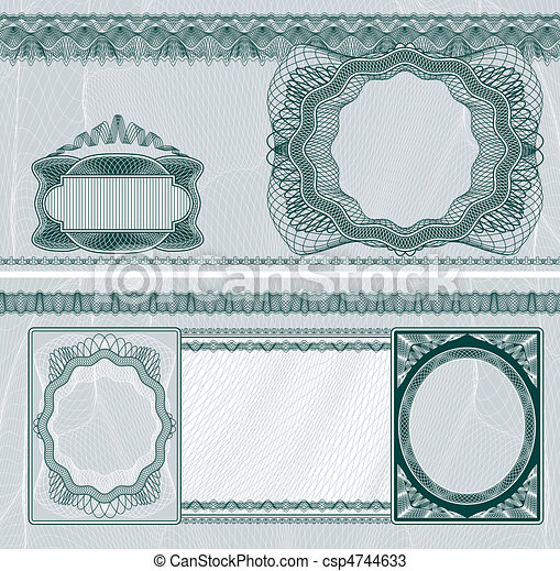 Blank banknote layout - csp4744633