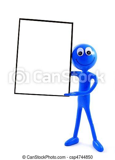 Ben D. Man with advert board - csp4744850