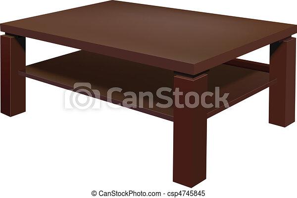Clipart Vektor Von Wohnzimmer Tisch