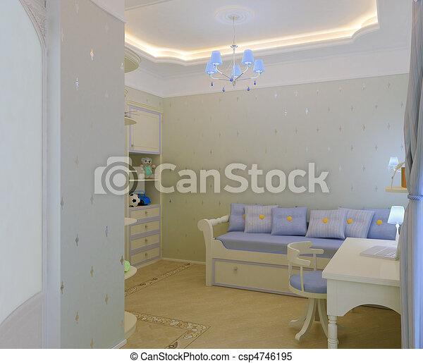 Child`s bedroom interior - csp4746195