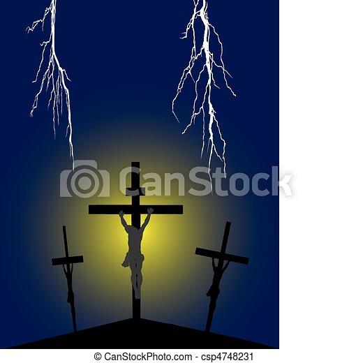 Crucifixion on Golgotha - csp4748231