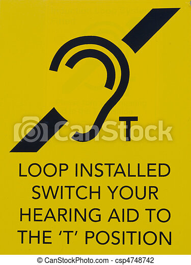 Hearing loop public information sign - csp4748742