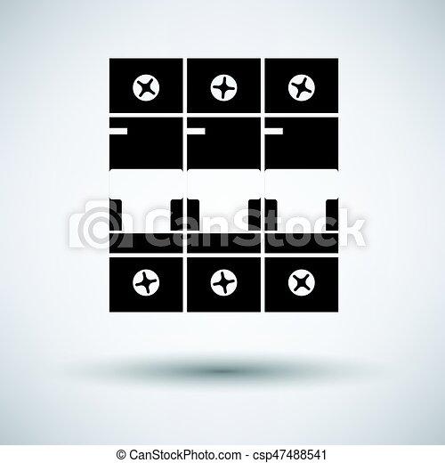 Circuit breaker icon - csp47488541