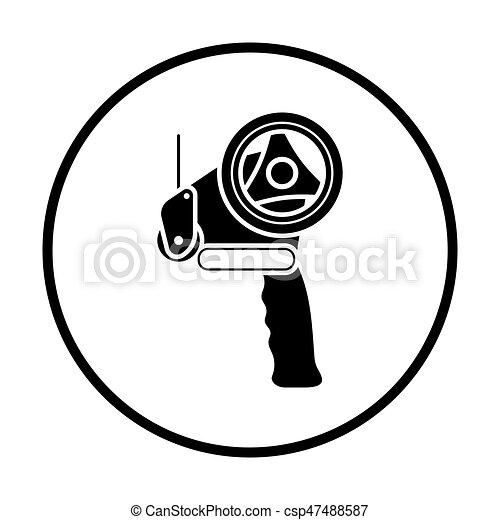 Scotch tape dispenser icon - csp47488587