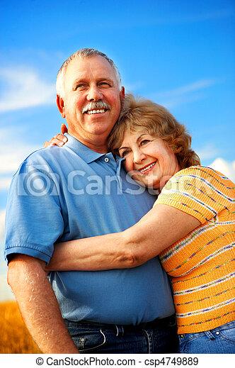 elderly couple - csp4749889