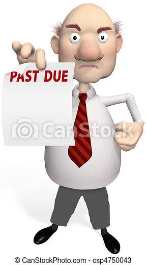 Debt Collection Agency >> Drawings of creditor bill collector holds debt statement - A mean... csp4750043 - Search Clipart ...