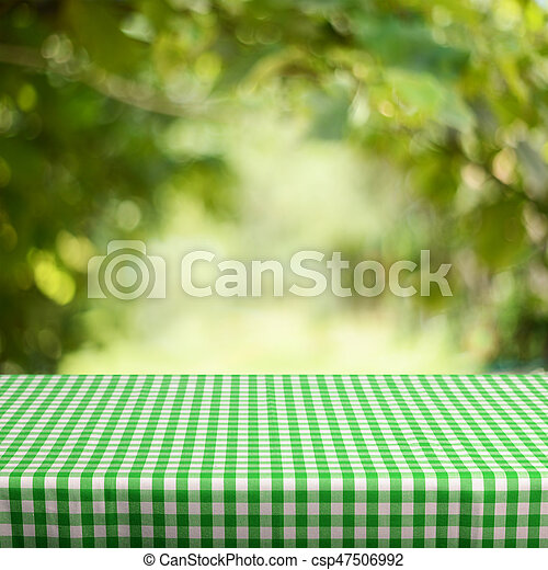 Empty table for display montages