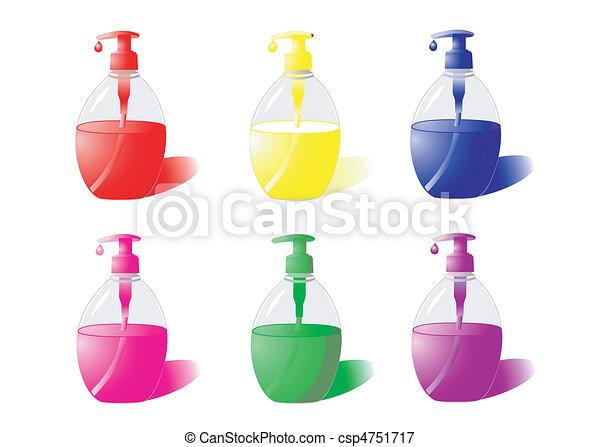 illustrations vectoris es de savon liquide set de bouteilles de liquide savon. Black Bedroom Furniture Sets. Home Design Ideas