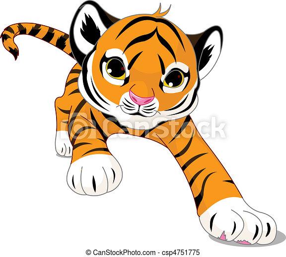 Running  baby tiger - csp4751775