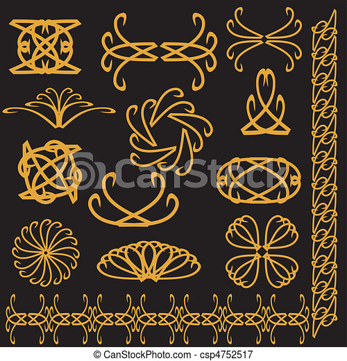 set of decor elements - csp4752517
