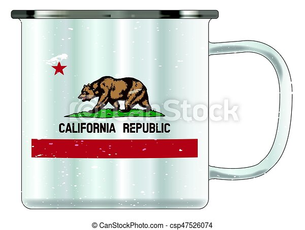 California Tin Cup - csp47526074