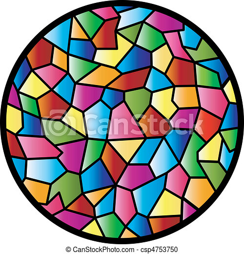 Stained Glass Circular Window - csp4753750