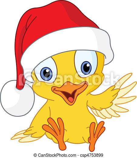 Christmas chick - csp4753899