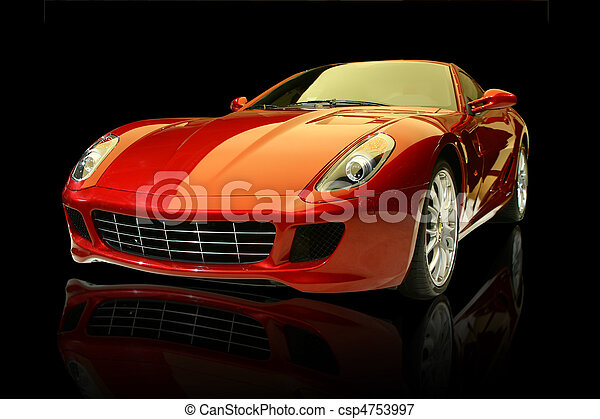 Red luxury sports car - csp4753997