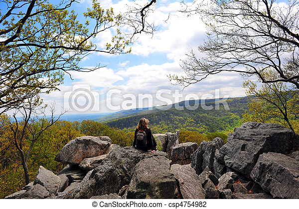 Chimney Rock, Appalachian Mountains Maryland - csp4754982