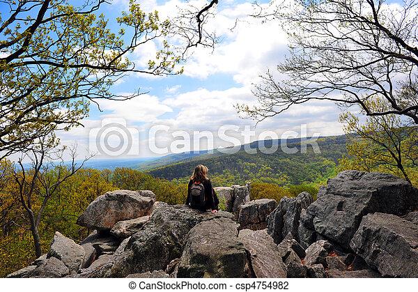 Chimney Rock, Appalachian Mountains Maryland - csp4754982