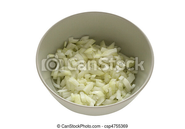 cut onion in bowl - csp4755369