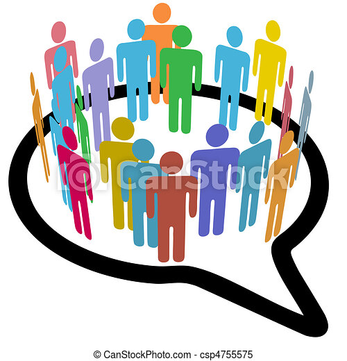 Social media people inner circle Speech Bubble - csp4755575