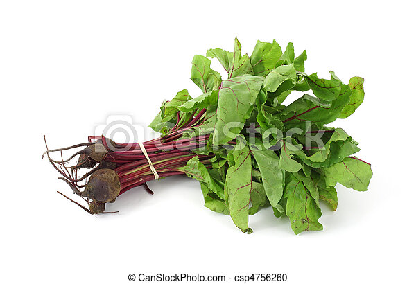 Beet greens with small beets - csp4756260