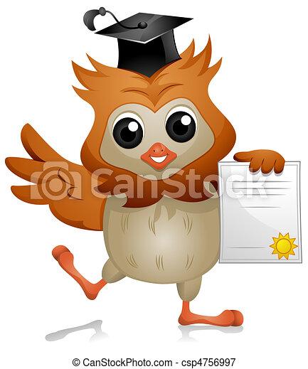 Owl Diploma - csp4756997
