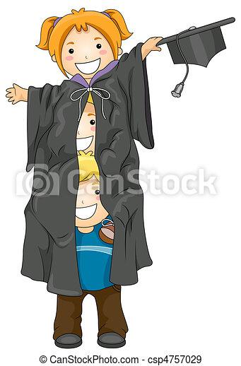 Kids Graduates - csp4757029