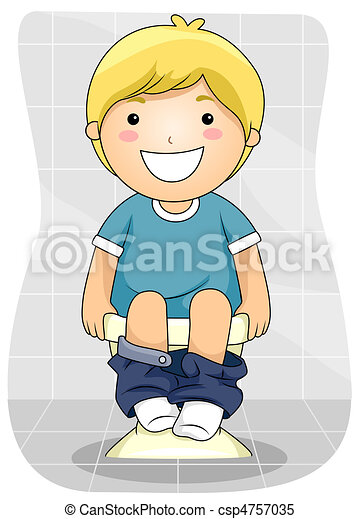 Stock Illustrations Of Kid Bowel Movement A Young Boy
