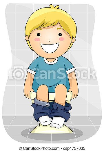 Kid Bowel Movement - csp4757035