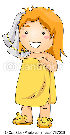 Stock Illustration Of Kid Bath Illustration Of A Young