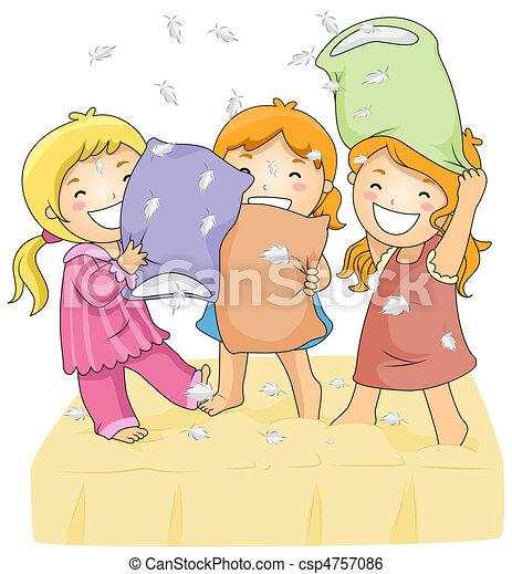 Pillow Fight - csp4757086