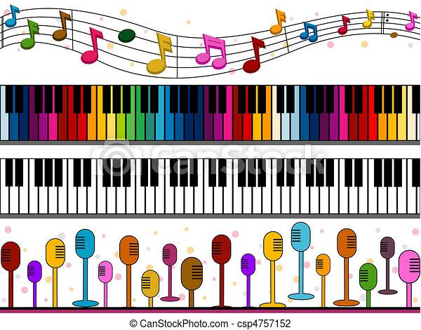 Music Borders - csp4757152