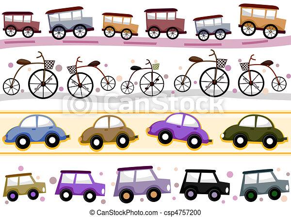 Vintage Vehicle Borders - csp4757200