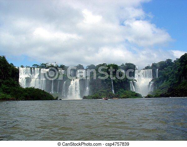 Falls between Brazil and Argentina - csp4757839