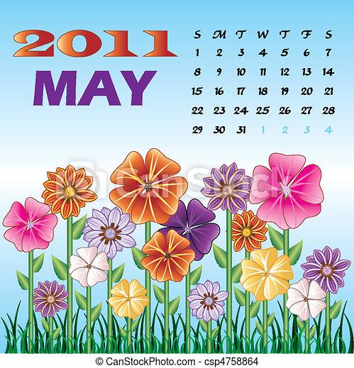 Spring May 2011 Flower Garden - csp4758864