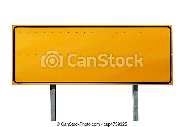 Big Blank Highway Sign - csp4759325