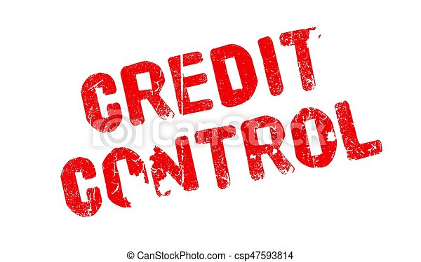 Credit Control rubber stamp - csp47593814