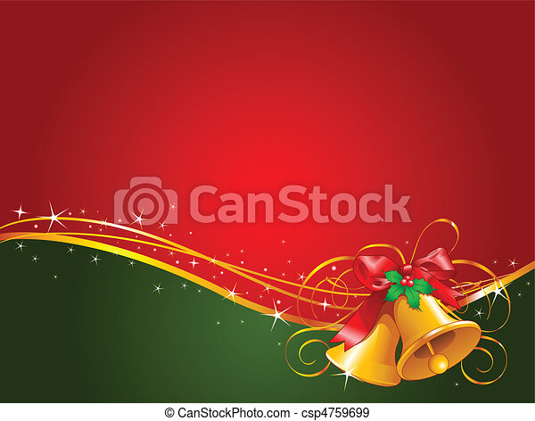 Christmas bells  background - csp4759699