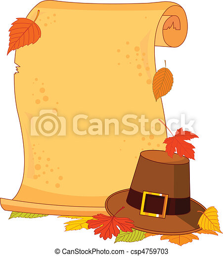 Thanksgiving scroll  - csp4759703
