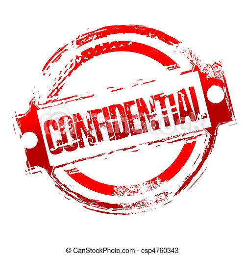 grungy confidential stamp - csp4760343