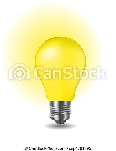 shiny classic light bulb - csp4761395
