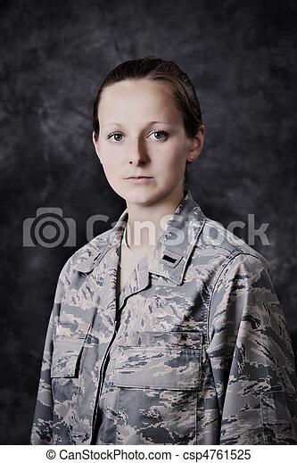 militär, kvinna - csp4761525